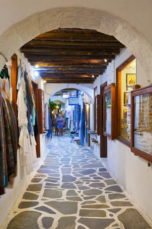 naxos: Shops in the old town of Naxos. Editorial