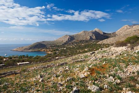 Halki island in Dodecanese archipelago, Greece.