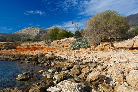 halki: Halki island in Dodecanese archipelago, Greece.