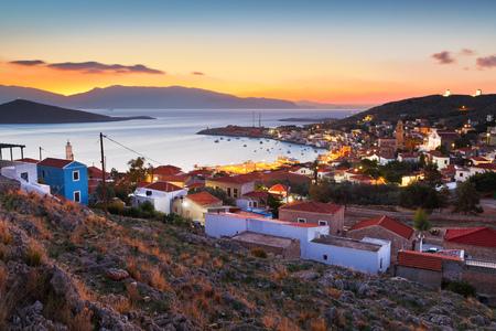 halki: Village on Halki island in Dodecanese archipelago, Greece.