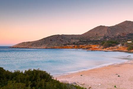 halki: Beach on Halki island in Dodecanese archipelago, Greece. Stock Photo