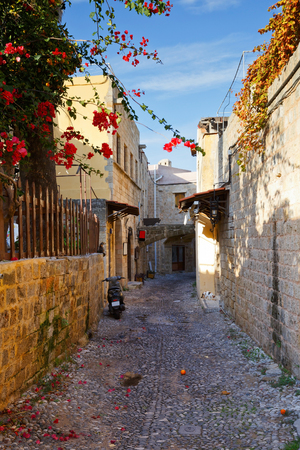 Street in the old town of Rhodes.