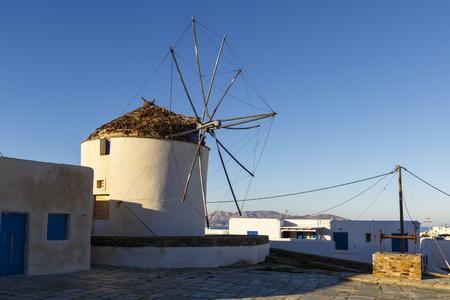 ios: Windmill in Chora on Ios island, Greece.