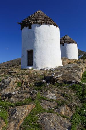 ios: Windmills near Chora on Ios island, Greece.