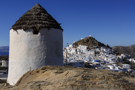ios: Windmill near Chora on Ios island, Greece.