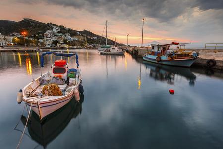 Harbor of Agios Kirikos village on Ikaria island in Greece.