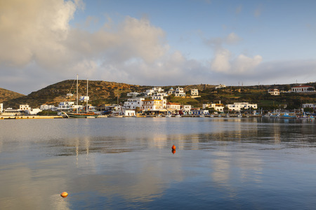 Village of Lipsi island in Dodecanese, Greece.