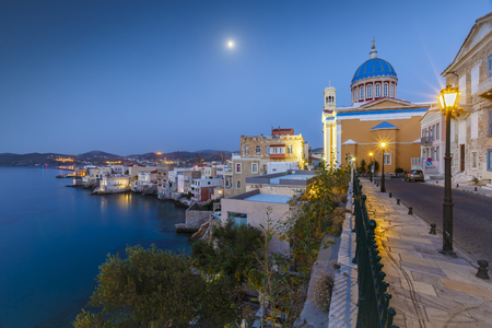 cycladic: Vaporia district of Ermoupoli town on Syros island.