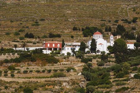Church above Ano Syros village on Syros island.
