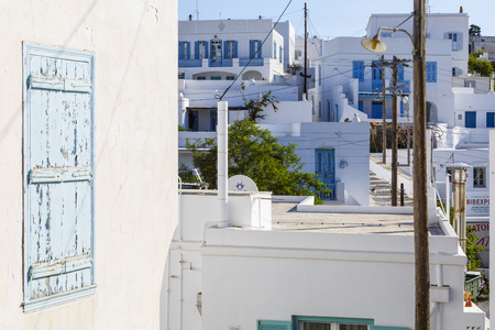 Typical Cycladic architecture in Artemonas village on Sifnos island in Greece. 新聞圖片