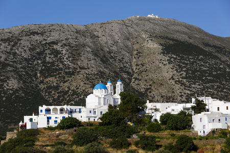 cycladic: Church in Apollonia village on Sifnos island in Greece.