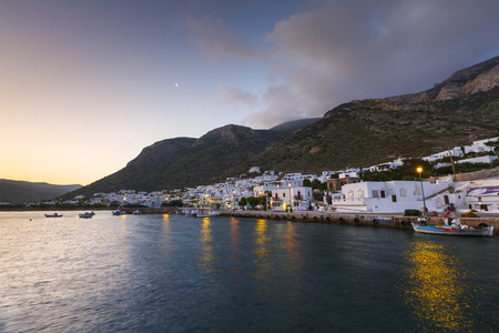 cycladic: View of Kamares village early in the morning.