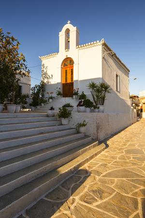 Church in Chora village of Kythnos island in Greece.