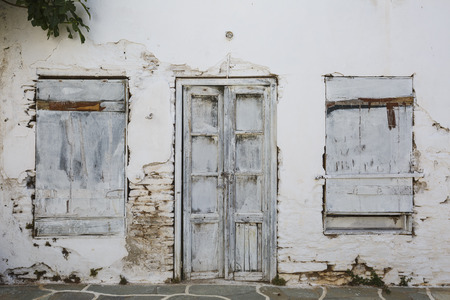 cycladic: Abandoned house in Messaria village on Kythnos island.