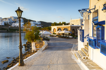 cycladic: Loutra village on Kythnos island early in the morning.