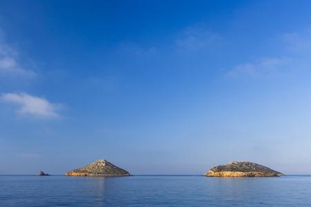 Small islets off the coast of Lipsi island in Greece.