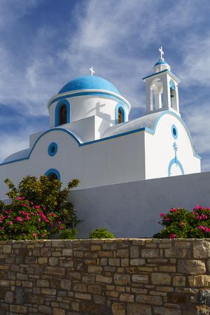 Church in the main village on Lipsi island in Greece.