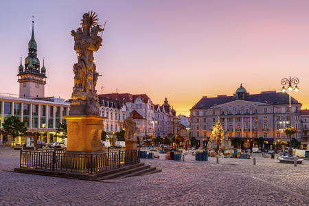 Koolmarktplein in de oude stad van Brno, Tsjechië.