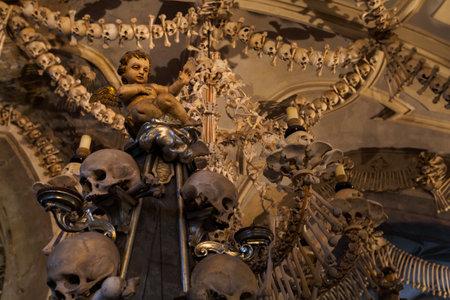 Bone decoration of Sedlec ossuary in Kutna Hora.