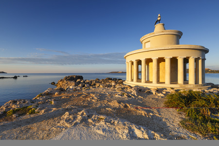 Morning at the Lighthouse of Saint Theodoroi near the town of Argostoli on Kefalonia island in Greece.