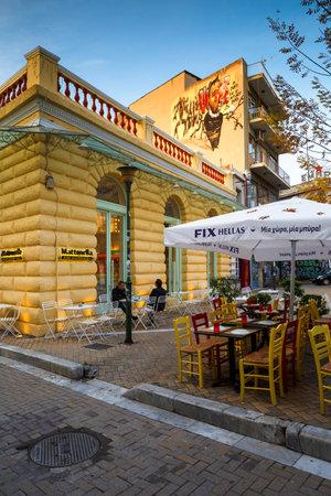 Coffee shop in Psirri neighborhood of, Athens.