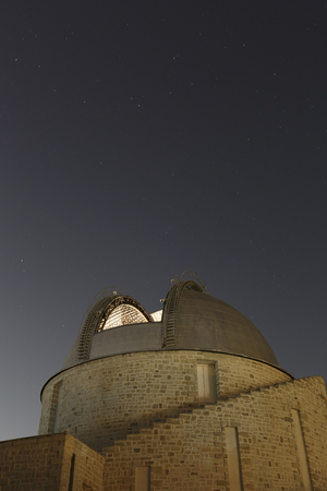 Athens, Greece - May 13, 2018: Telescope of the National Observatory of Athens in Penteli, Greece. Editorial
