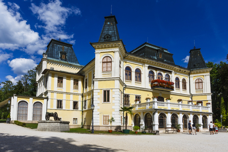 Betliar, Slovakia - August 12, 2018: Renaissance-Baroque hunting manor house of Betliar in eastern Slovakia.
