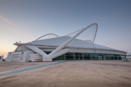 Athens, Greece - November 11, 2018: Architecture in Olympic Sports Complex OACA in Athens, Greece.