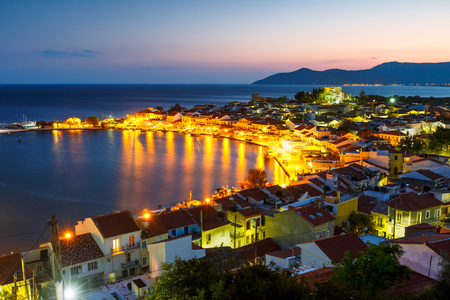 Picturesque Pythagorio town on Samos island, Greece. Stok Fotoğraf