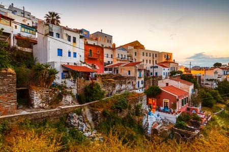 View of Ioulida village on Kea island in Greece.