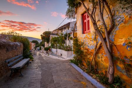 Anafiotika-Viertel in der Altstadt von Athen, Griechenland. Standard-Bild
