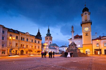 Banska Bystrica, Slovakia – January 16, 2016: Main square in Banska Bystrica, central Slovakia. 報道画像