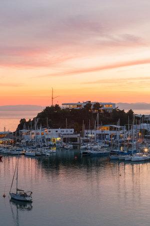 Athens, Greece - Novembre 19, 2018: View of Mikrolimano marina in Piraeus, Athens.
