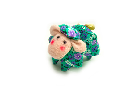flowered: handmade funny sheep toy from flowered material