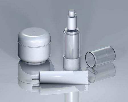 product range: Cosmetic product range for logo presetnation and other client renditions