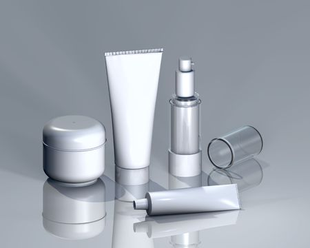 cremas faciales: Cosm�ticos para el logotipo de presentaci�n u otras entregas