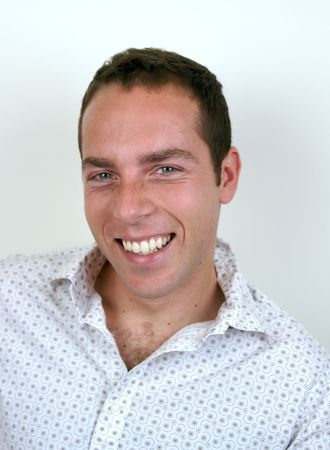 a young man laughing and being very happy Stock Photo - 690159