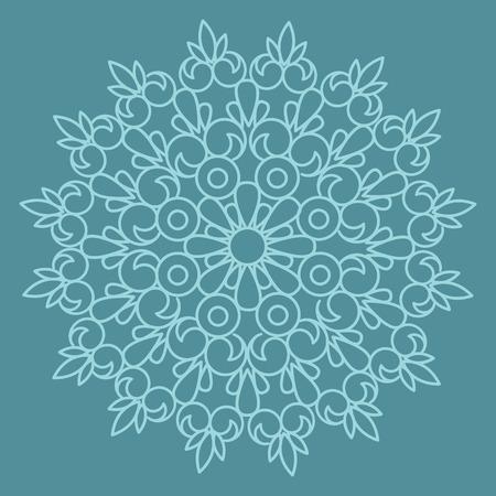 ornement vecteur circulaire. Round style mandala de motif.