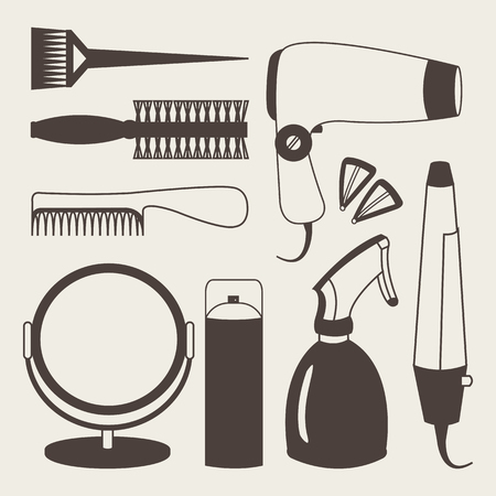 grey hair: Hair accessories and barber tools grey