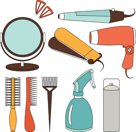 Hair accessories and barber tools color
