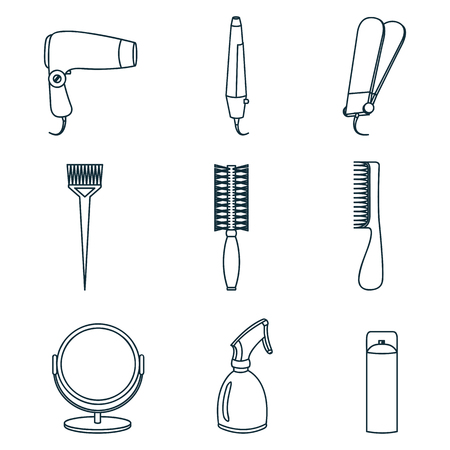 hair accessories: Hair accessories and barber tools line
