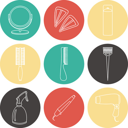 hair accessories: Hair accessories and barber tools color