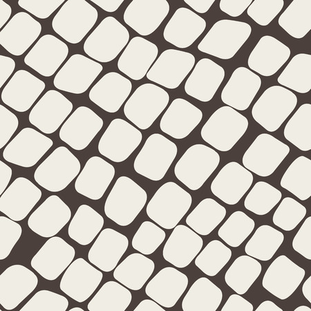 paving stones: Seamless brown pattern with paving stones Illustration