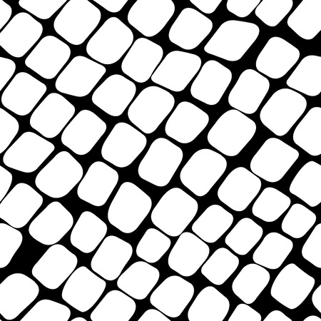flagstone: Seamless black and white pattern with stones