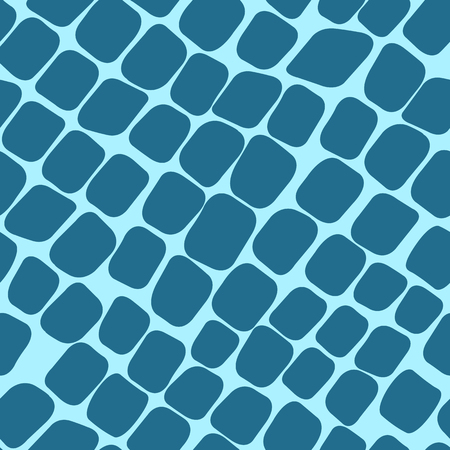 paving stones: Seamless blue pattern with paving stones