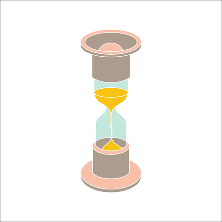 timepieces: Vector colorfull hourglass icon on white background Illustration