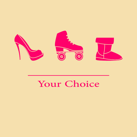 rollick: Vector illustration set your choice of footwear