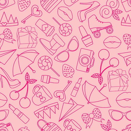 rollick: Vector seamless of glamor stickers and labeles