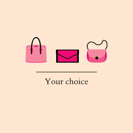 handbags: set of women fashion handbags to choose from Illustration