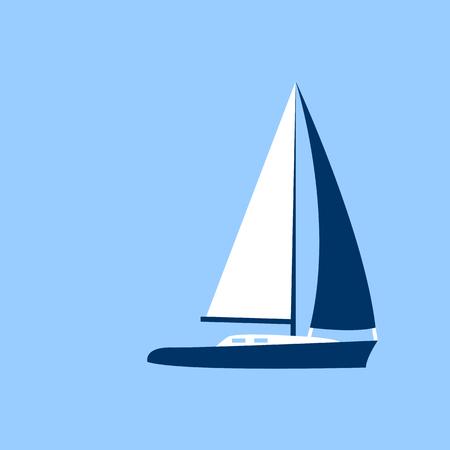 Barca a vela Imbarcazione Icona Illustrazione Vettoriale